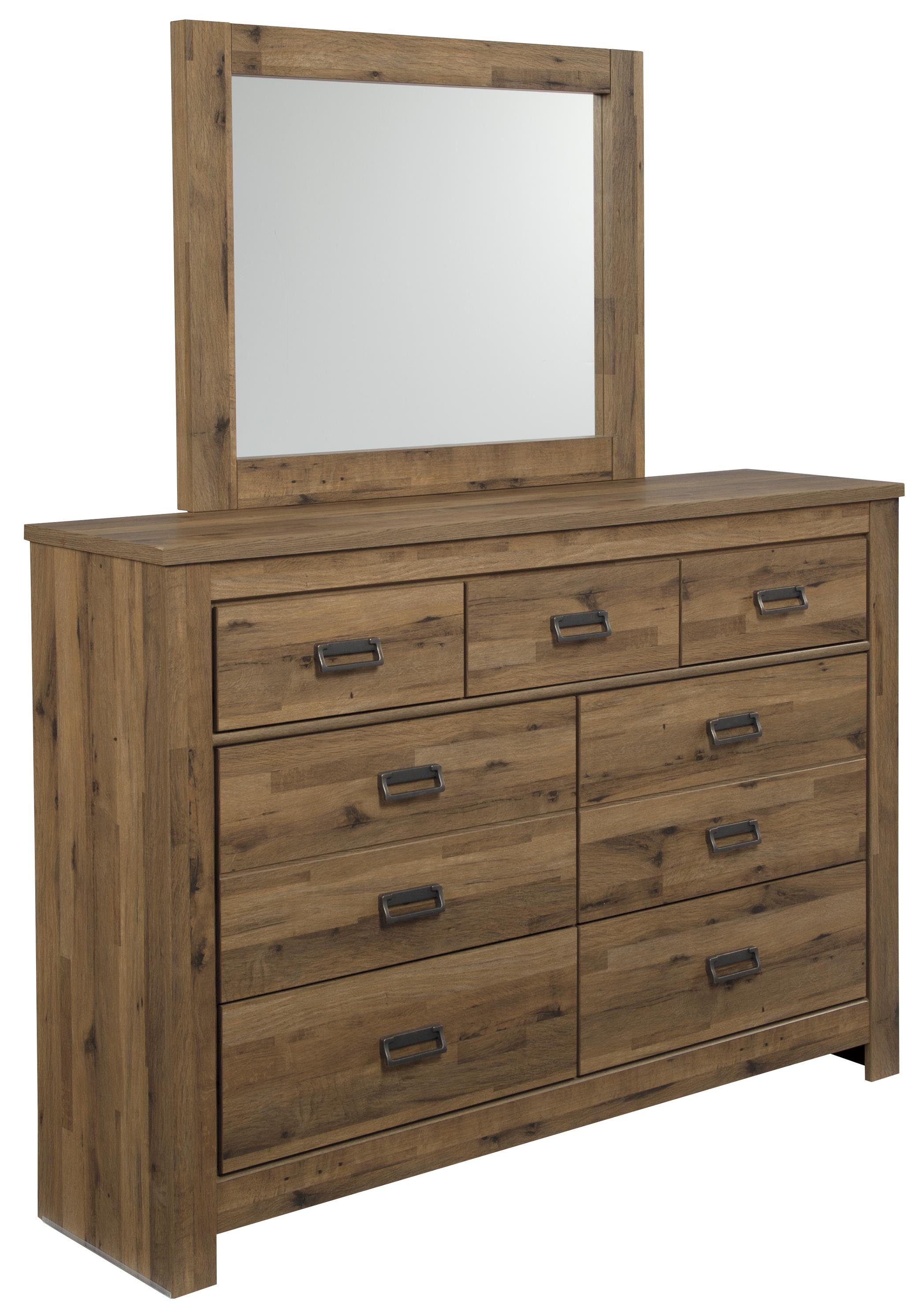Signature Design by Ashley Cinrey Dresser & Mirror - Item Number: B369-31+36