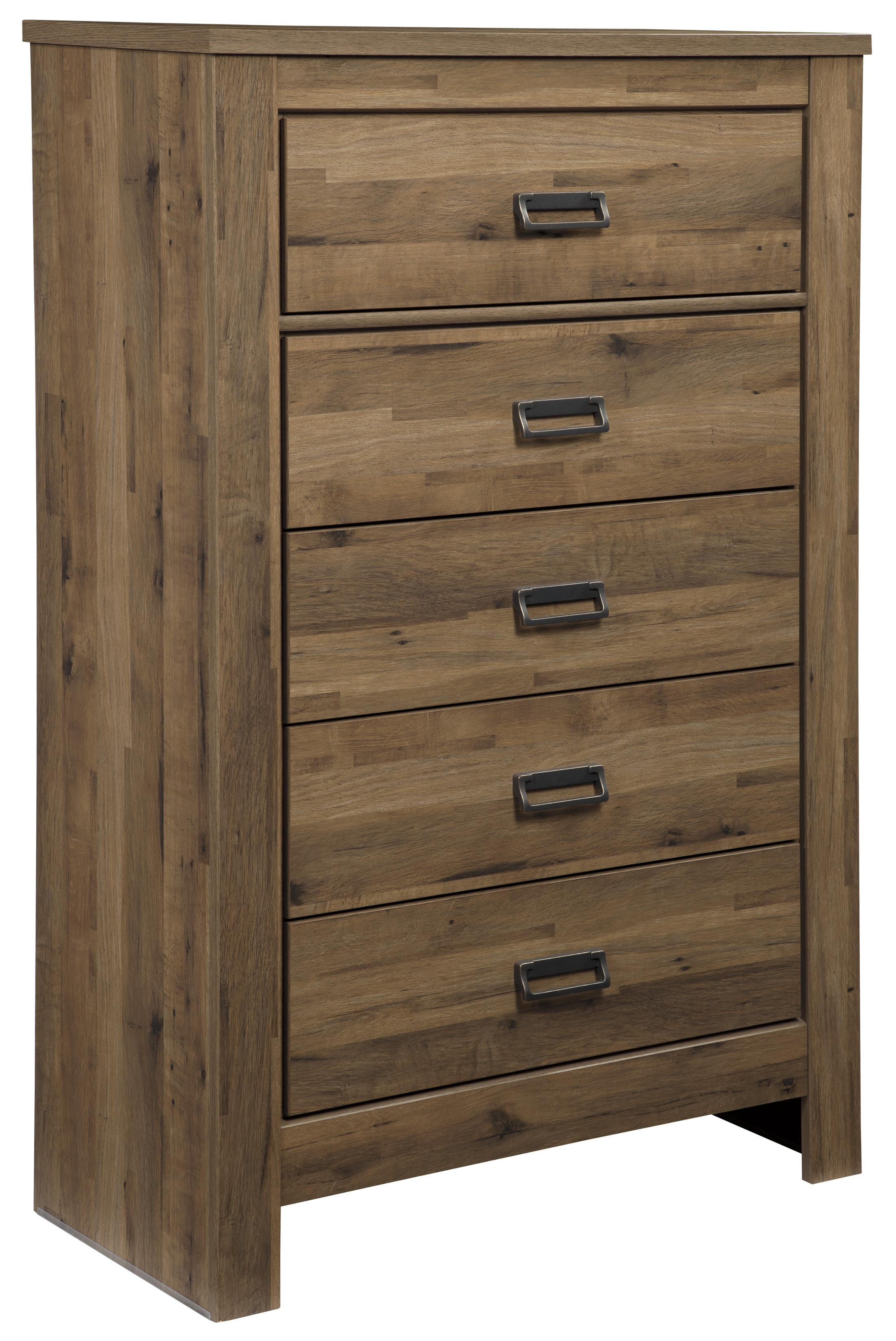 Signature Design by Ashley Cinrey Five Drawer Chest - Item Number: B369-46