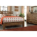 Signature Design by Ashley Simon Contemporary Queen Panel Bed with Wide Slats on Headboard