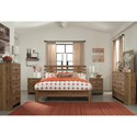 Signature Design by Ashley Cinrey Contemporary King Panel Bed with Wide Slats on Headboard
