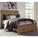 Signature Design by Ashley Cinrey Queen Panel Storage Bed - Item Number: B369-77+74S+95+B100-13