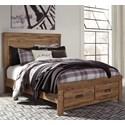 Signature Design by Ashley Cinrey King Panel Storage Bed - Item Number: B369-78+76S+95+B100-14