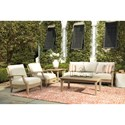 Signature Design by Ashley Clare View Outdoor Conversation Set - Item Number: P801-838+2x820+P805-701+702