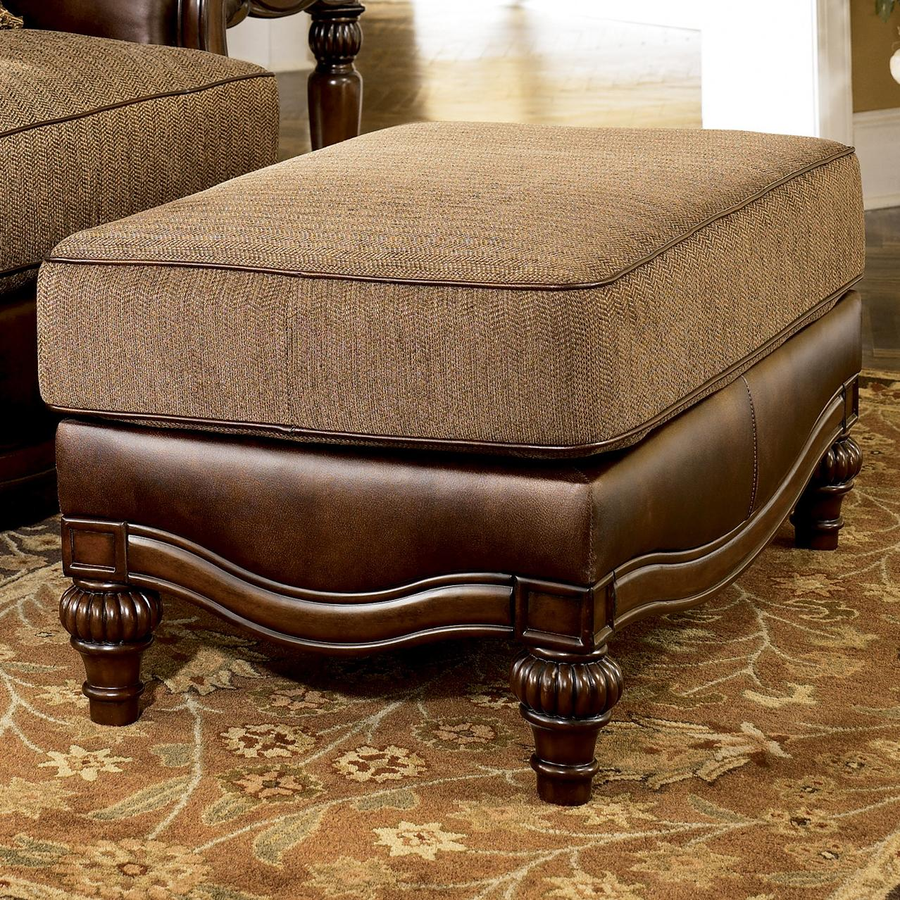 Signature Design by Ashley Claremore - Antique Ottoman - Item Number: 8430314