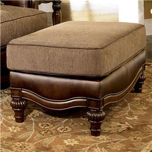 Signature Design by Ashley Claremore - Antique Ottoman