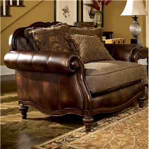 Claremore antique 84303 by signature design by ashley for Ashley claremore chaise