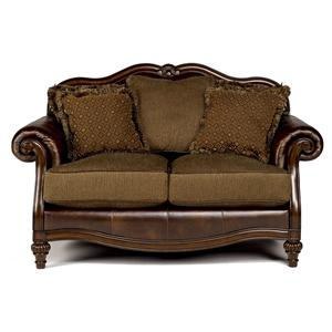 Signature Design by Ashley Claremore - Antique Loveseat