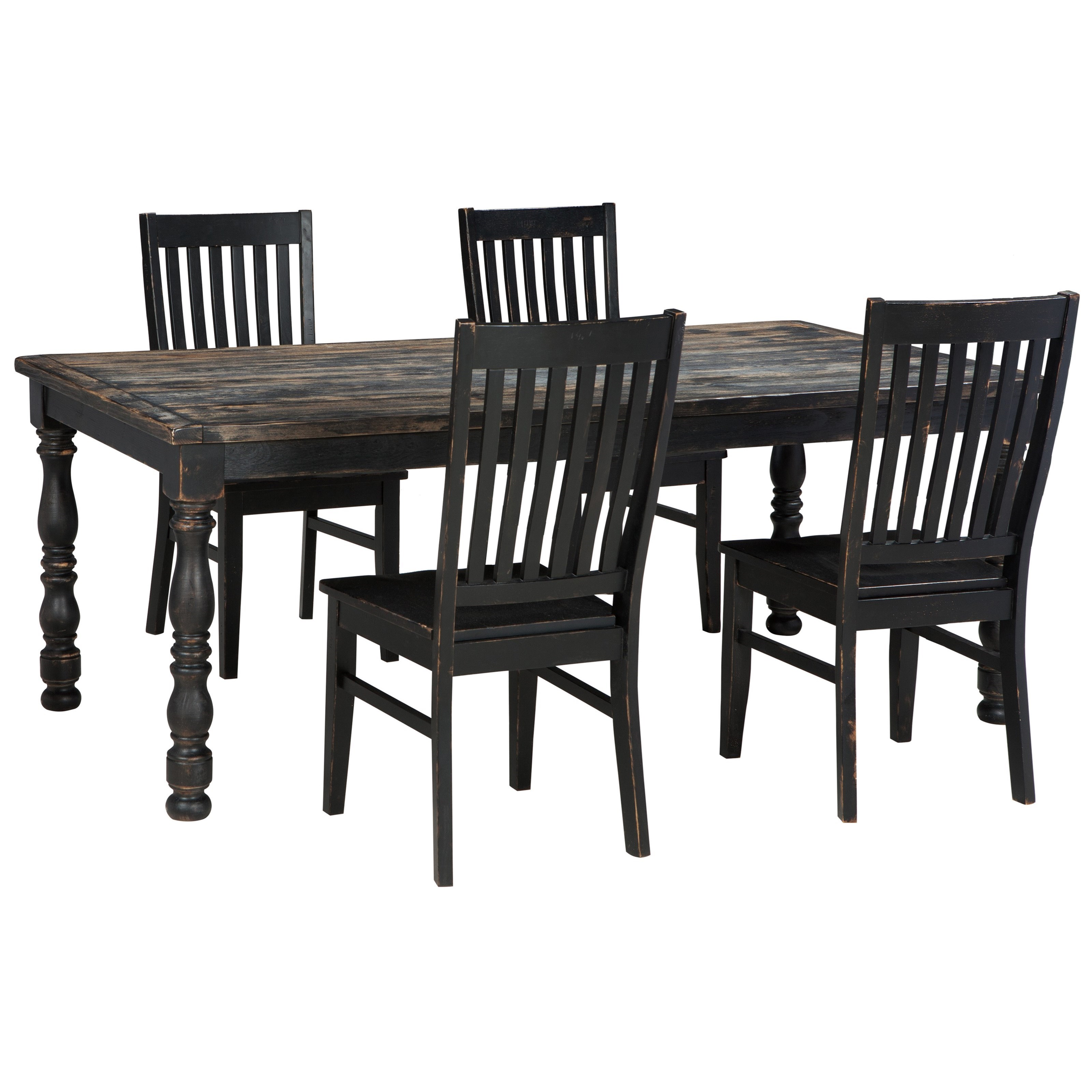 Signature Design By Ashley Clayco Bay 5 Piece Rectangular Dining Room Table Set
