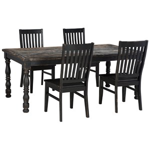 Signature Design by Ashley Clayco Bay 5-Piece Rectangular Dining Room Table Set