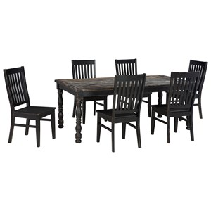 Signature Design by Ashley Clayco Bay 7-Piece Rectangular Dining Room Table Set