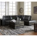 Signature Design by Ashley Cliffoney Sectional - Item Number: 1470657+3x46+77+14