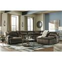 Signature Design by Ashley Clonmel Power Reclining Sectional with Chaise - Item Number: 36504-57+58+77+97+46x2