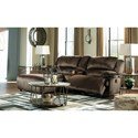 Signature Design by Ashley Clonmel Reclining Sectional w/ Chaise & Console - Item Number: 3650405+57+41