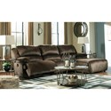 Signature Design by Ashley Clonmel Reclining Sectional with Pressback Chaise - Item Number: 3650440+46+07