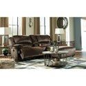 Signature Design by Ashley Clonmel Reclining Sectional w/ Chaise & Console - Item Number: 3650440+57+07