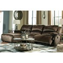 Signature Design by Ashley Clonmel Reclining Sectional with Pressback Chaise - Item Number: 3650479+46+62