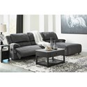 Ashley (Signature Design) Clonmel Power Recl. Sectional with Pressback Chaise - Item Number: 3650558+46+97