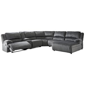 Power Recl.Sectional with Chaise & Console