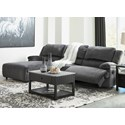 Signature Design by Ashley Clonmel Reclining Sectional with Pressback Chaise - Item Number: 3650579+46+62