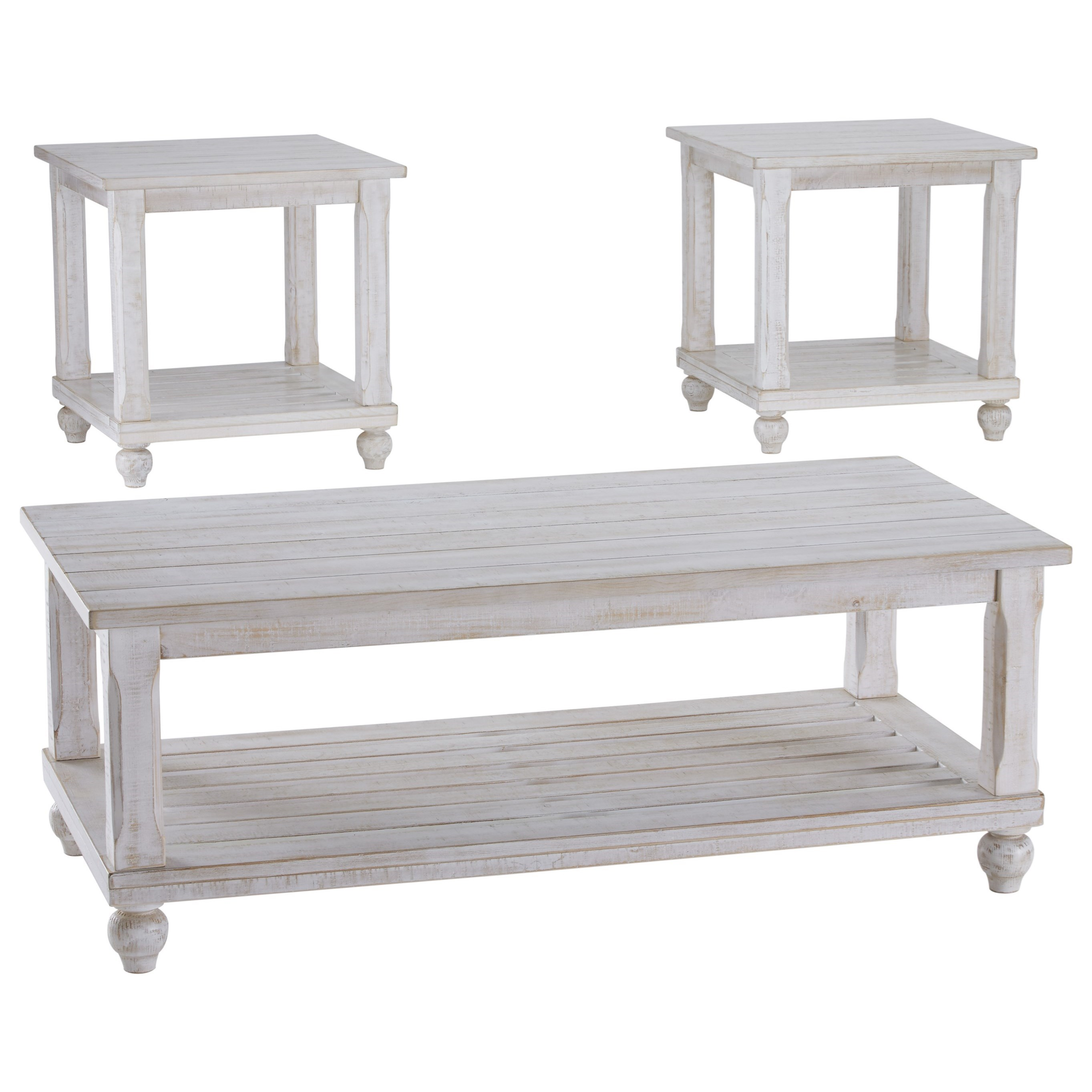 Signature Design by Ashley Cloudhurst 3 Piece Occasional Table Set - Item Number: T488-13