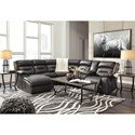 Signature Design by Ashley Coahoma Six Piece Sectional with Storage Console and Chaise