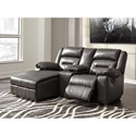 Signature Design by Ashley Coahoma Three Piece Sectional Sofa with Chaise and Storage Console