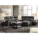 Signature Design by Ashley Coahoma Five Piece Sectional with Chaise