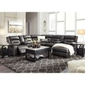 Signature Design by Ashley Coahoma Seven Piece Sectional with Storage Consoles