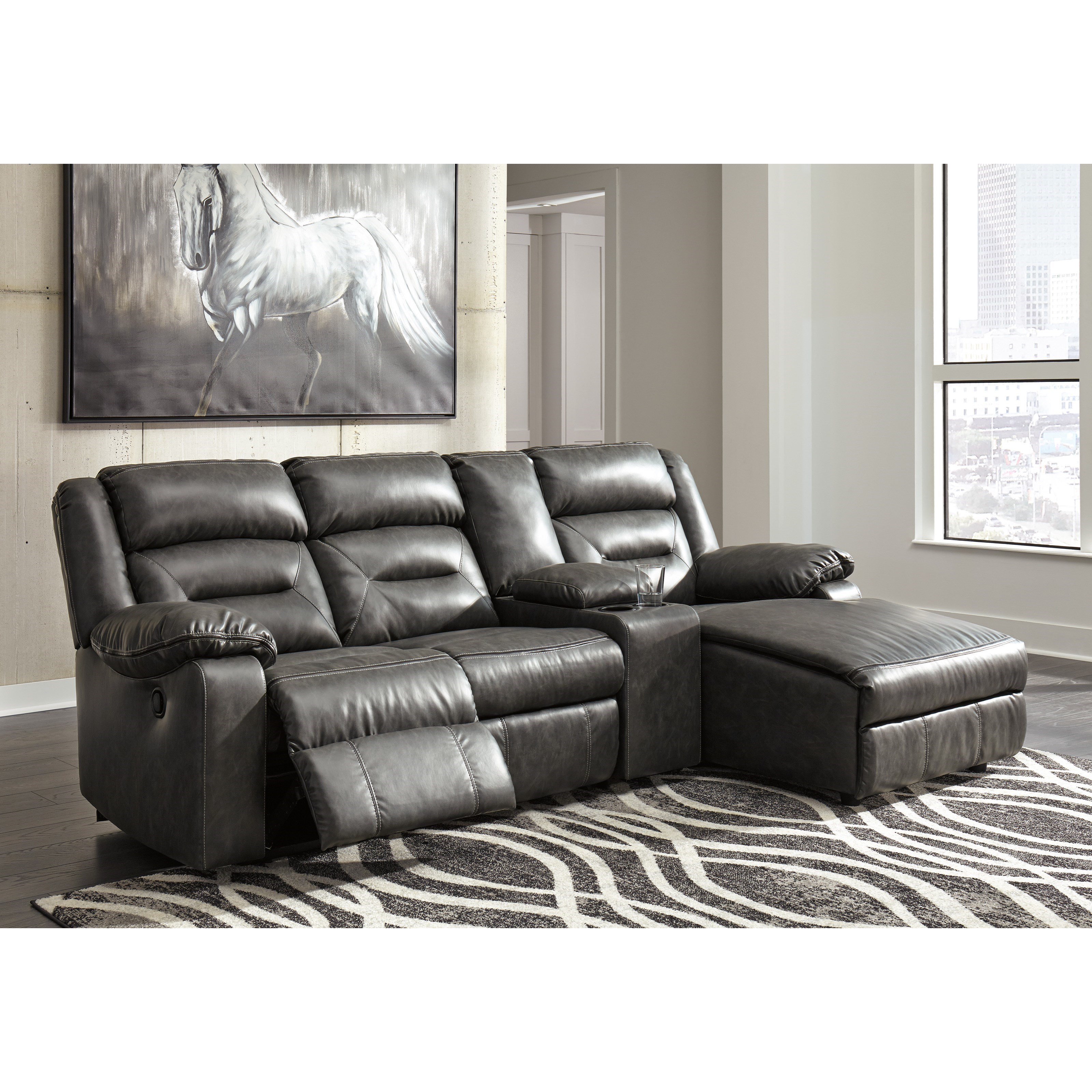 Ashley Sofas And Sectionals: Signature Design By Ashley Coahoma 4-Piece Sectional With