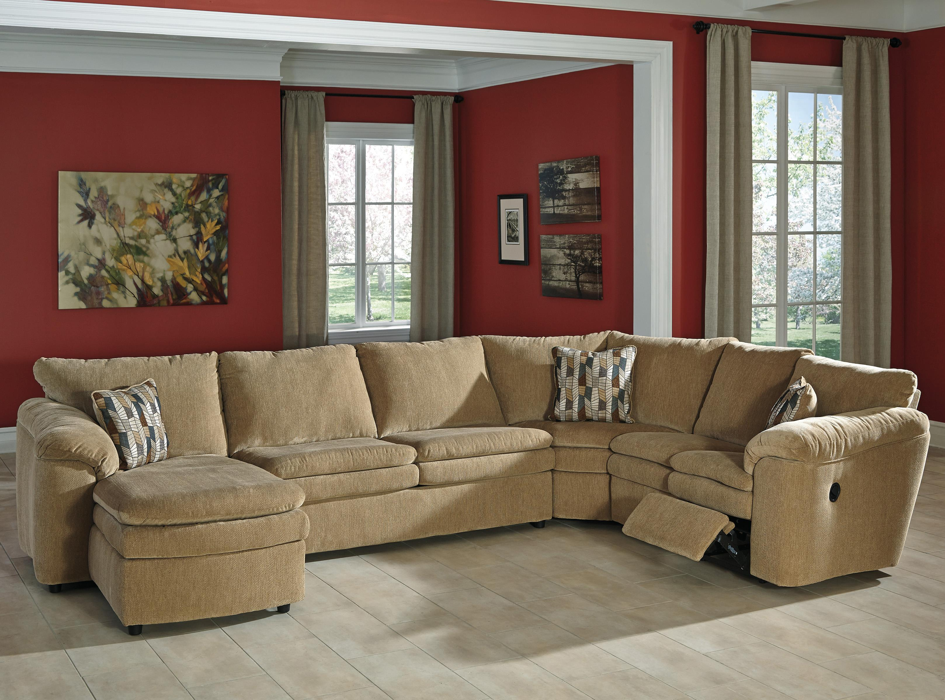 Signature Design by Ashley Coats 4-Piece Reclining Sectional - Item Number: 4410016+34+77+85
