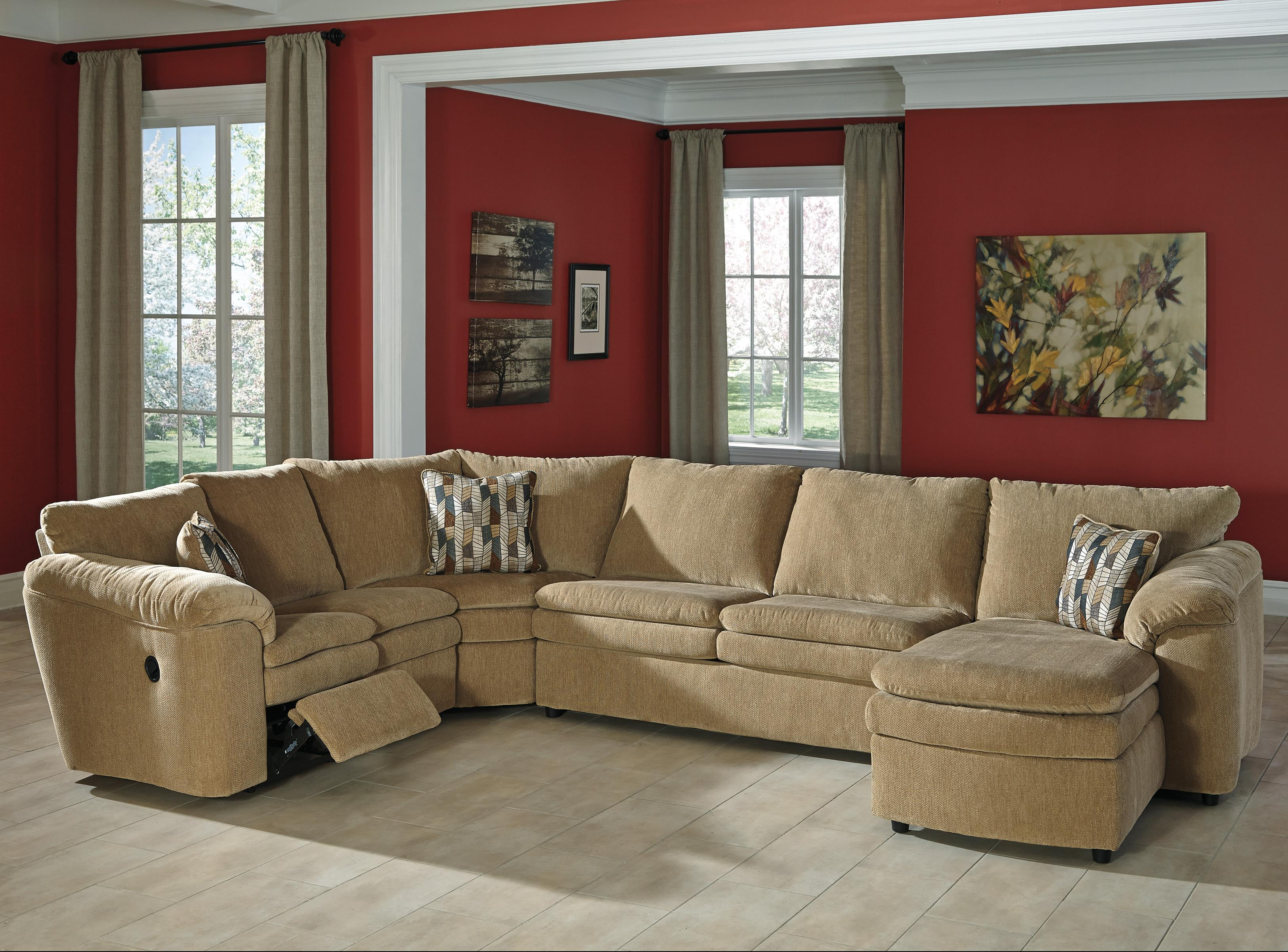 Signature Design by Ashley Coats 4-Piece Reclining Sectional - Item Number: 4410084+77+34+17