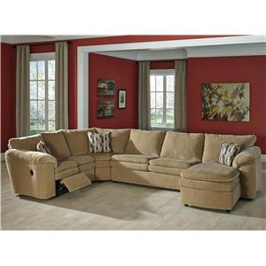 Signature Design by Ashley Furniture Coats 4-Piece Reclining Sectional