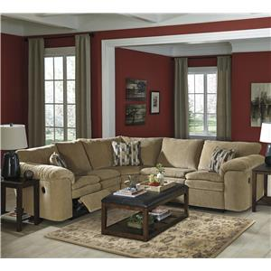Signature Design by Ashley Furniture Coats 3-Piece Reclining Sectional