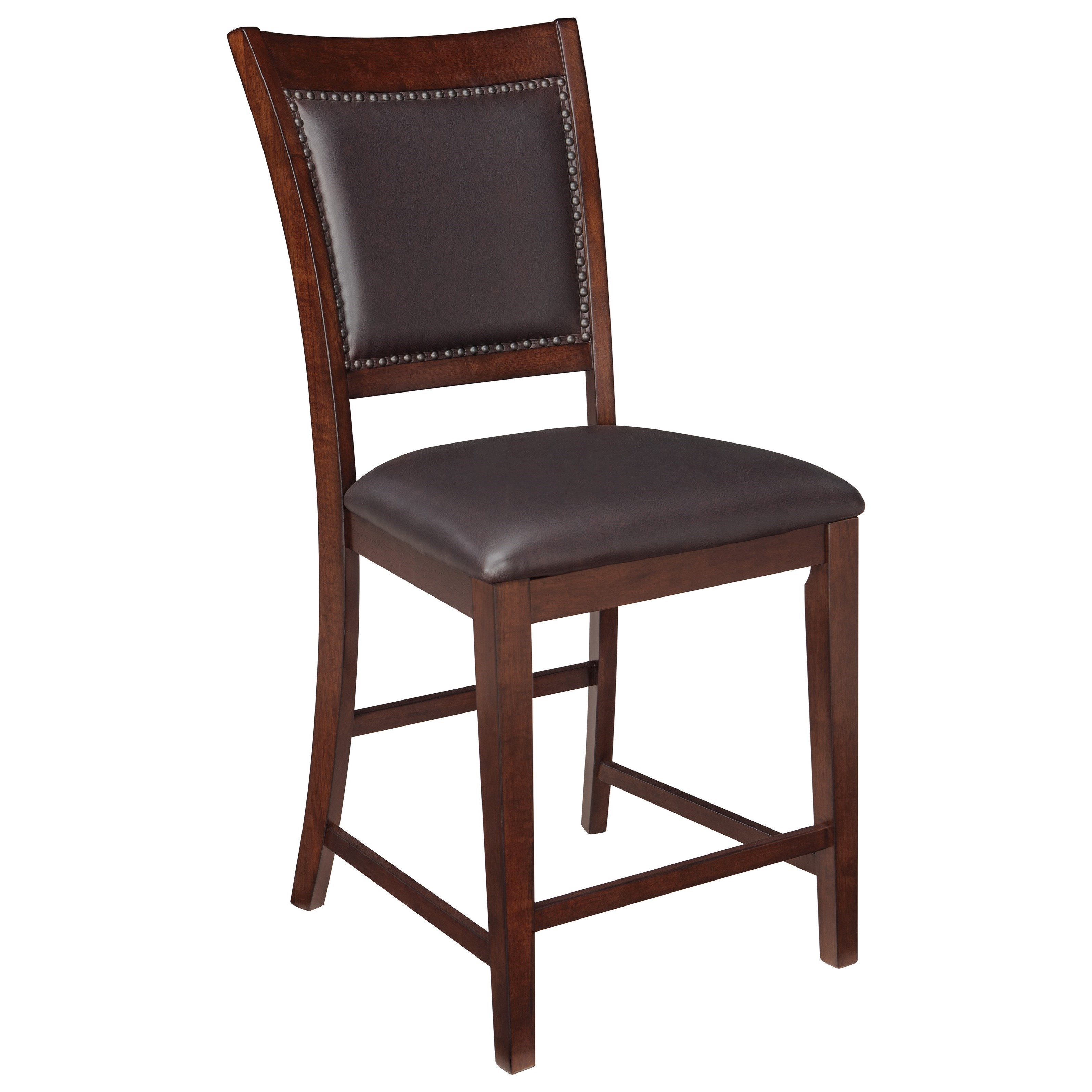 Signature Design By Ashley Collenburg Upholstered Barstool With Nailhead Trim Value City