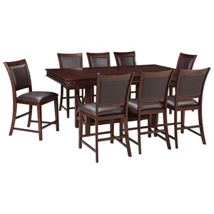 Signature Design by Ashley Collenburg 9-Piece Counter Table Set