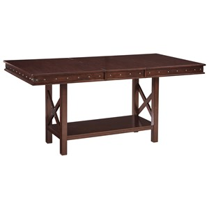 Signature Design by Ashley Collenburg Rectangular Dining Counter Extension Table