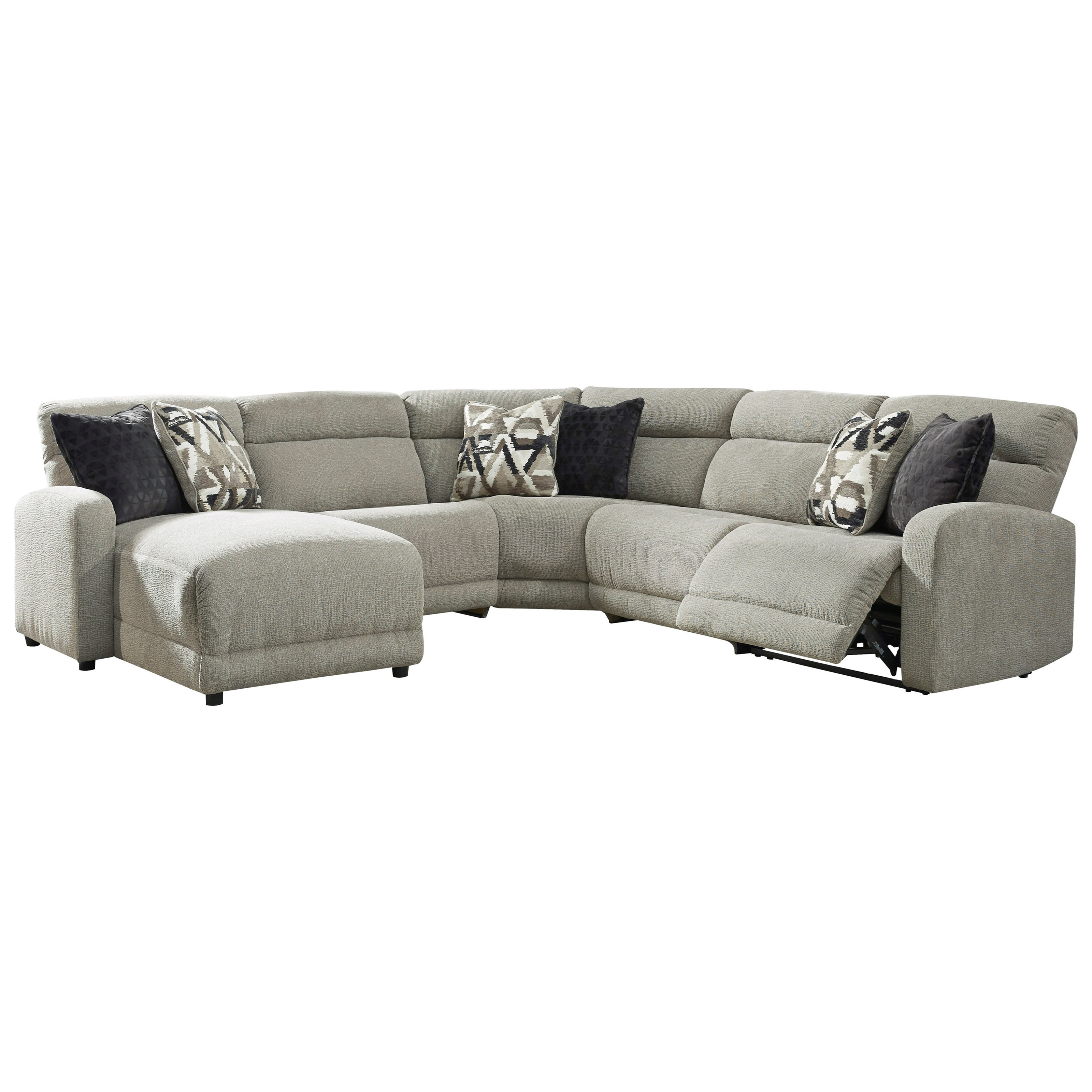 Colleyville Power Reclining Sectional by Ashley (Signature Design) at Johnny Janosik