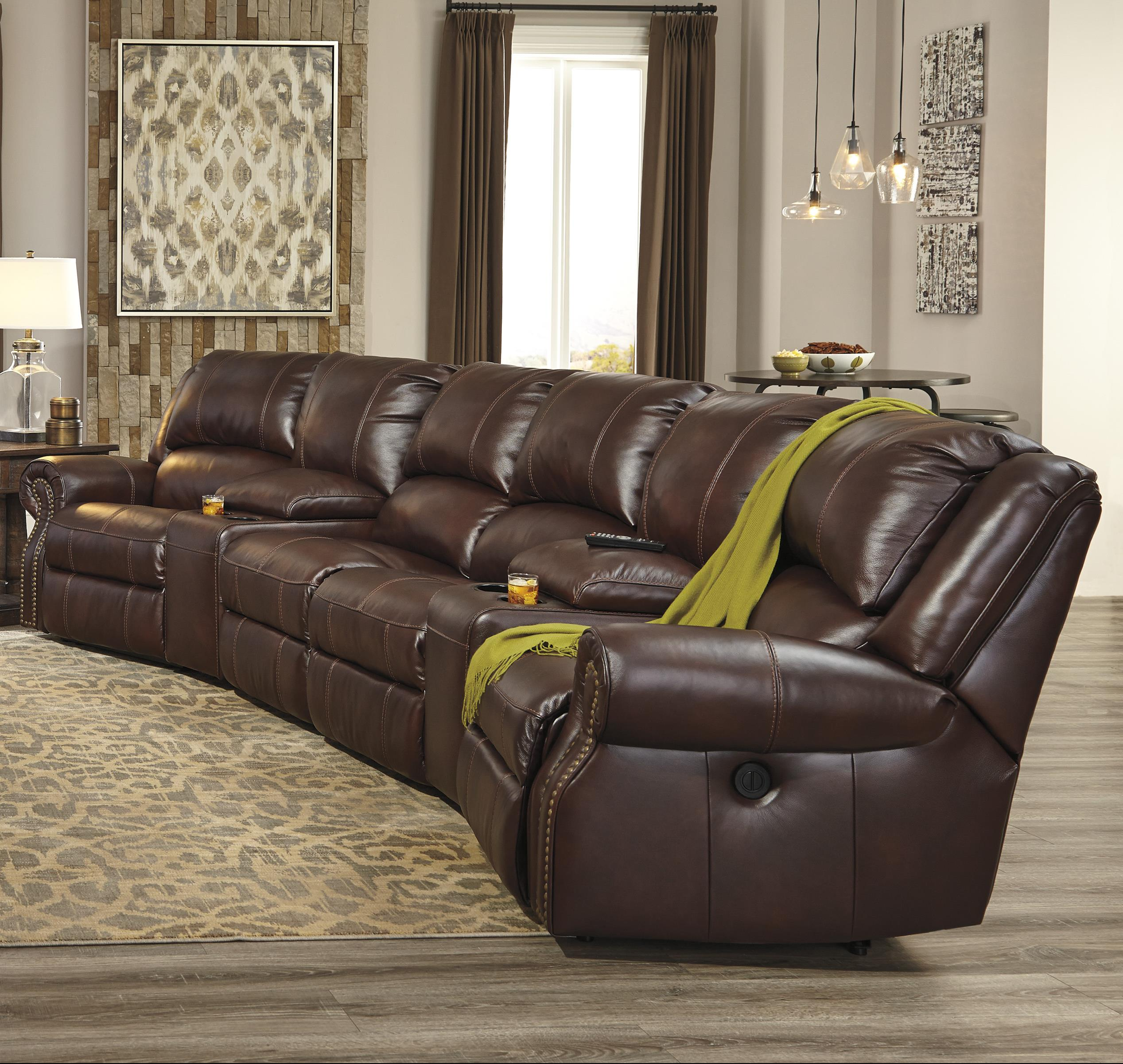 Signature Design by Ashley Collinsville 6-Piece Power Recline Theater Seating Group - Item Number: U7210058+2x27+2x19+62