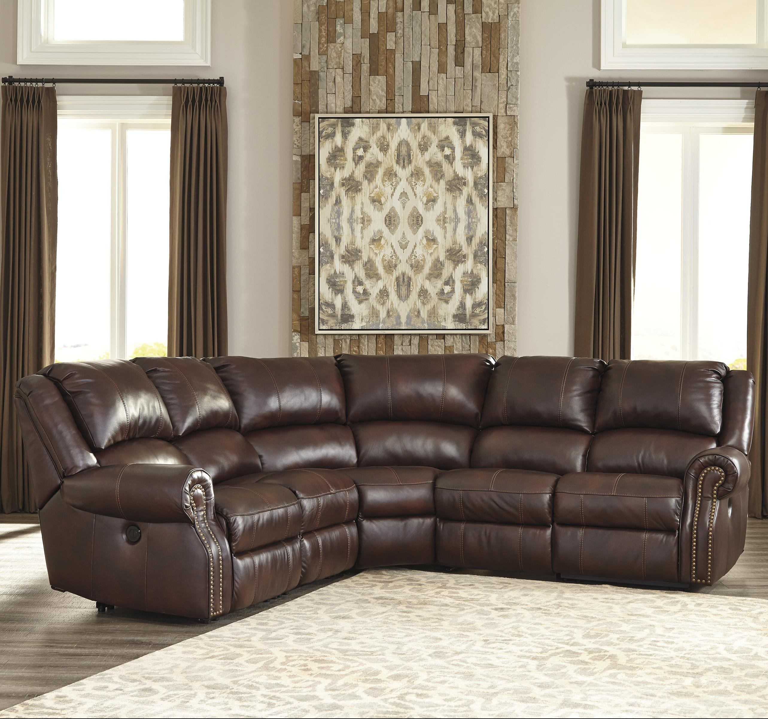 Signature Design by Ashley Collinsville 5Pc Recl. Sectional w/ 2 Armless Recliners - Item Number: U7210040+2x19+77+41