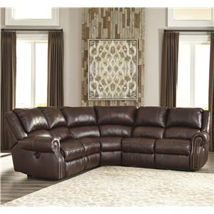 Signature Design by Ashley Collinsville 5Pc Recl. Sectional w/ 2 Armless Recliners
