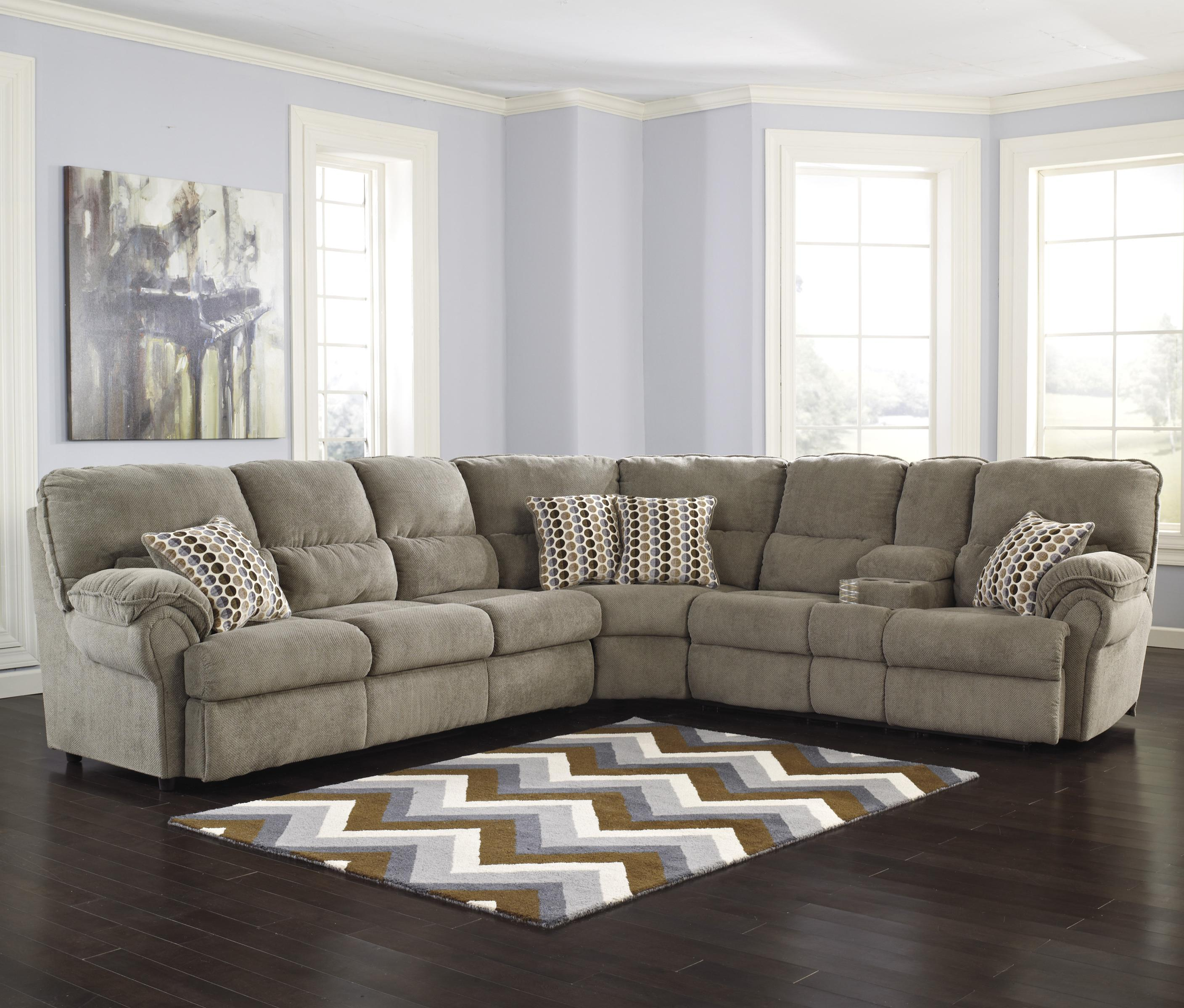 Signature Design by Ashley fort mandor Mocha Sectional w