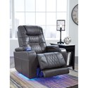 Signature Design by Ashley Composer Power Recliner with Power Headrest and Built-In Lighting