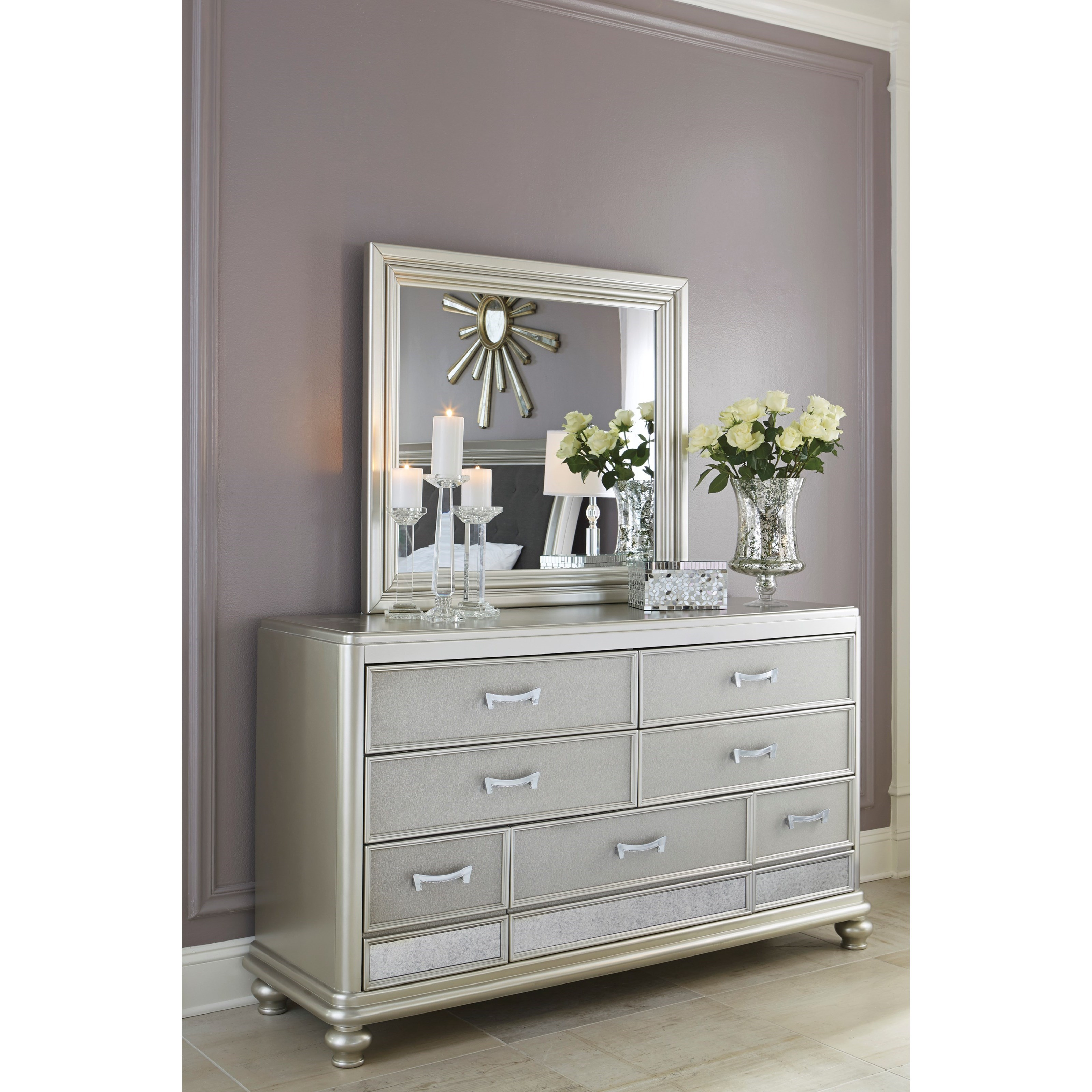 Bedroom Dressers With Mirrors: Signature Design By Ashley Coralayne Dresser & Bedroom