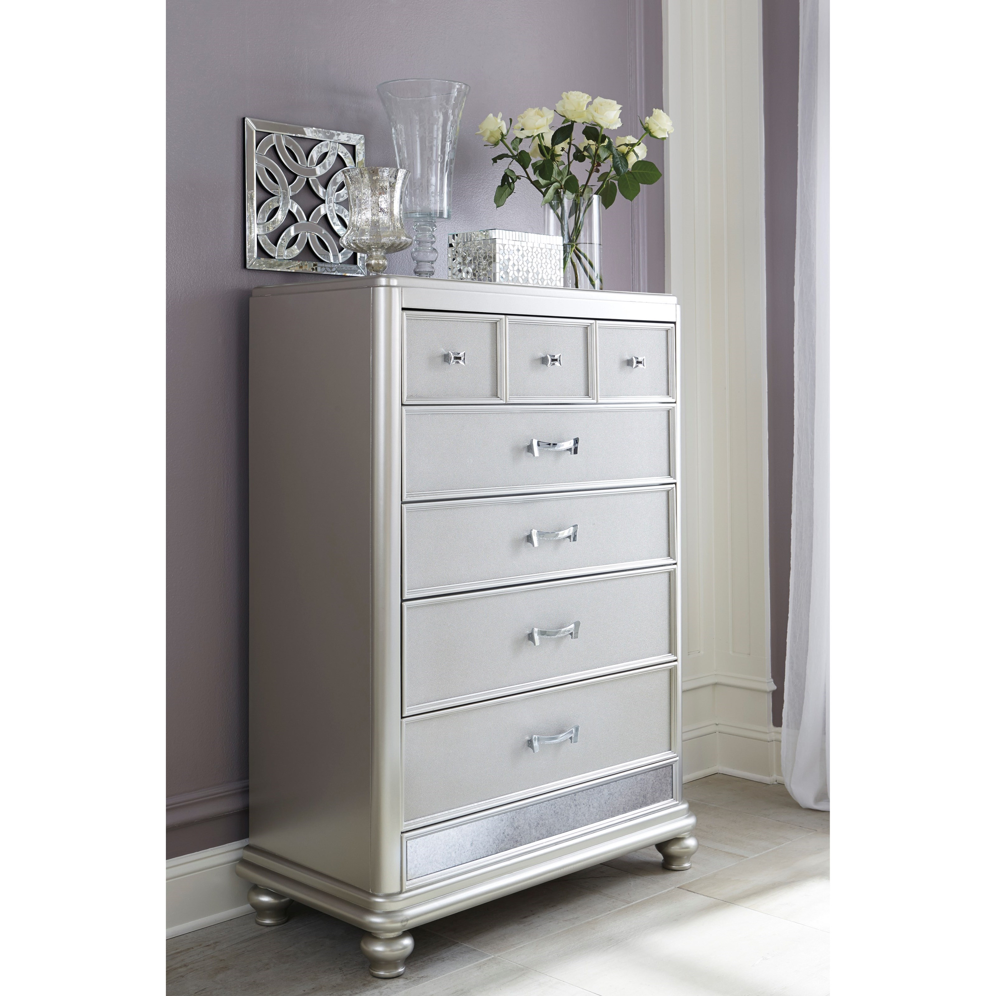 Ashley (Signature Design) Coralayne Five Drawer Chest In