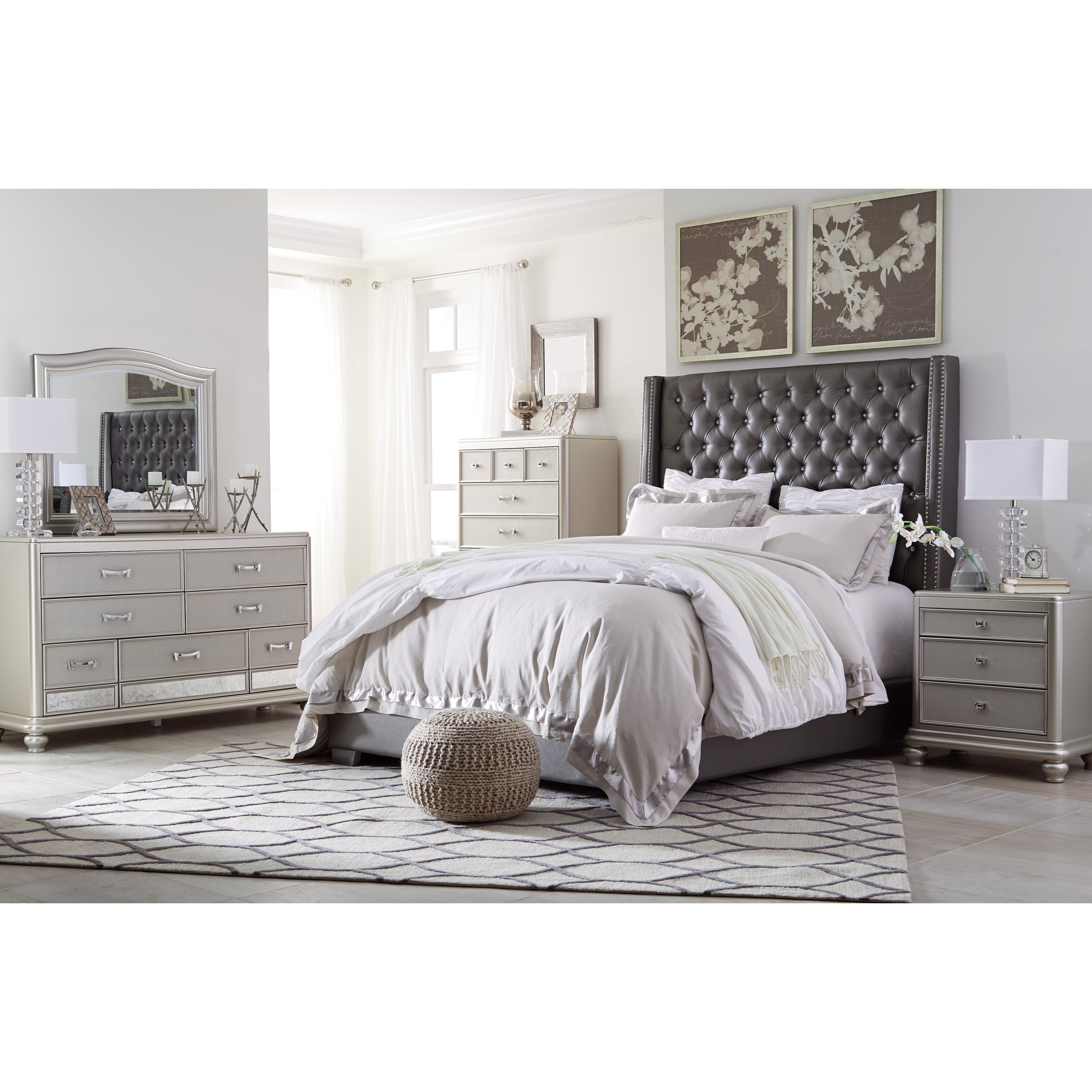 Ashley (Signature Design) Coralayne Queen Upholstered Bed