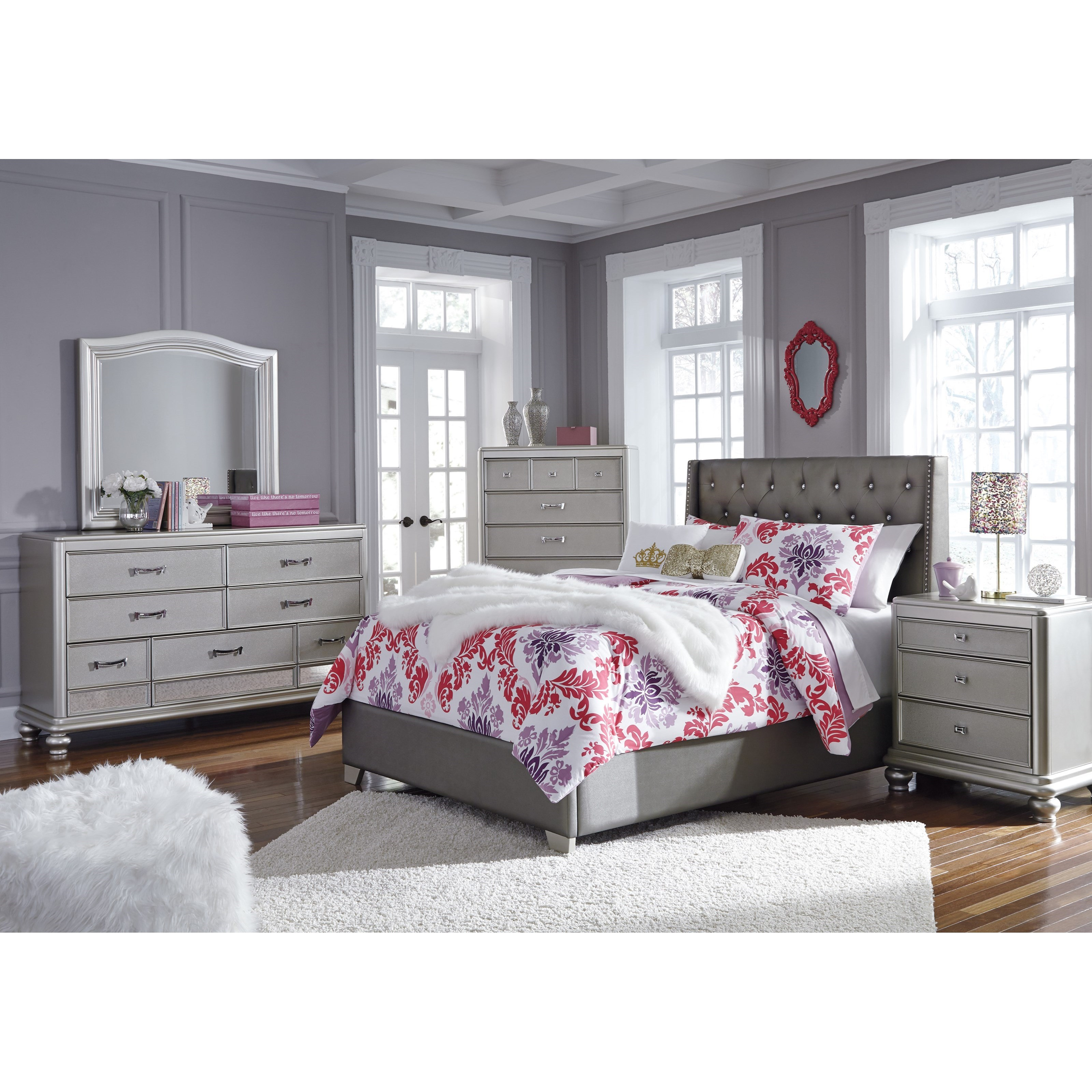 Signature design by ashley coralayne full upholstered bed - Ashley furniture full bedroom sets ...