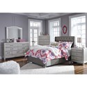 Signature Design by Ashley Coralayne Full Upholstered Bed with Tall Headboard with Faux Crystal Tufting