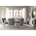 Signature Design by Ashley Coralayne Dining Upholstered Side Chair with Silver Finish Legs