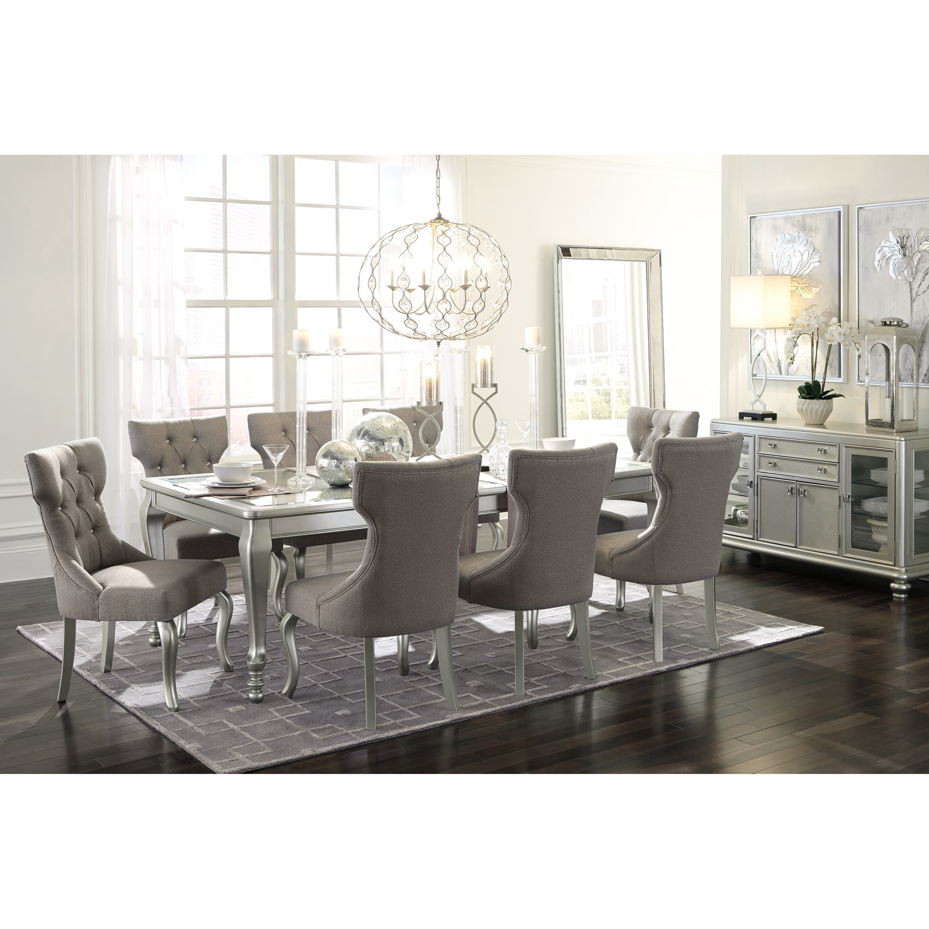 Signature Design By Ashley Furniture Hayley 7 Piece Dining: Coralayne 9-Piece Rectangular Dining Room Extension Table