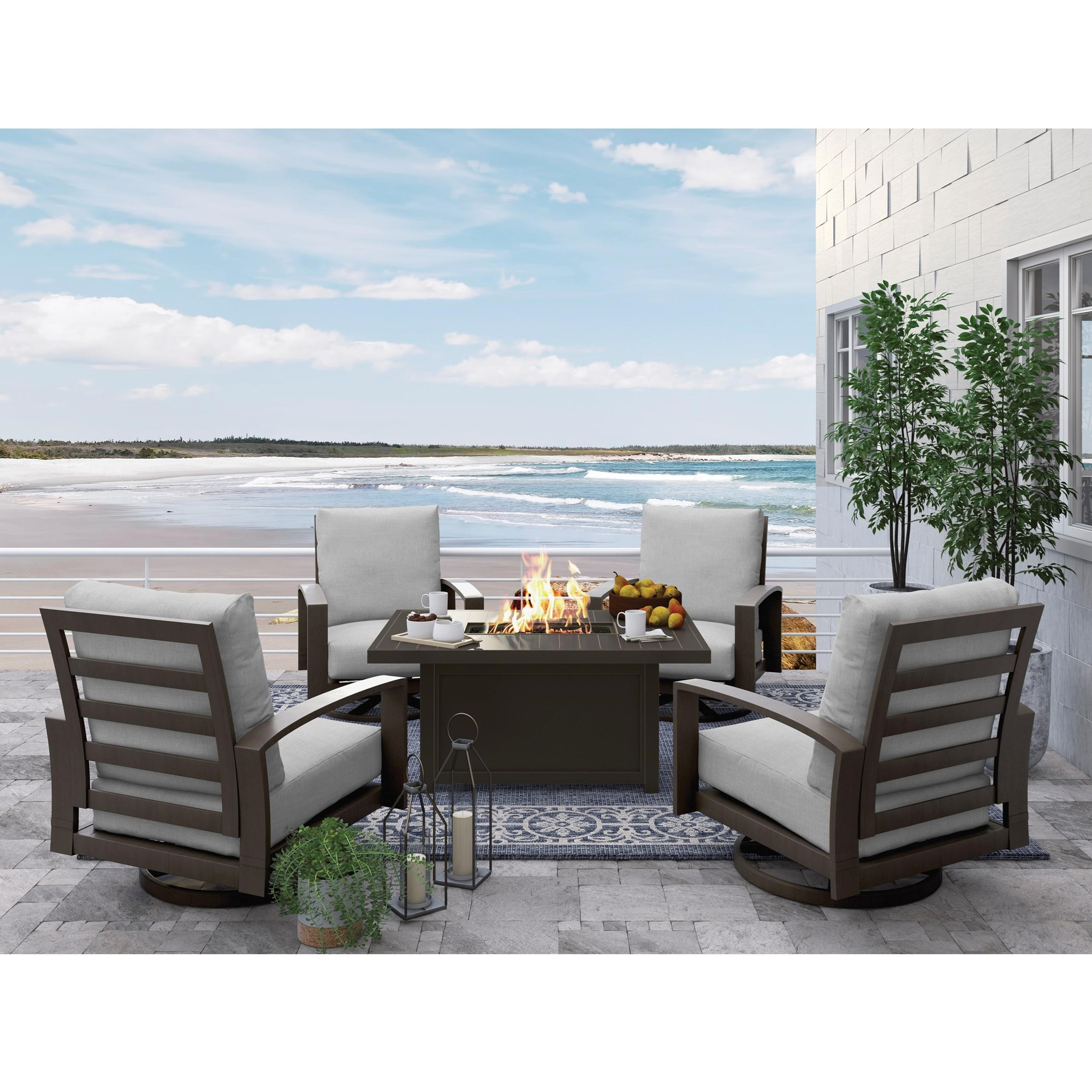 Ashley (Signature Design) Cordova Reef Conversation Set - Item Number: P645-775+2x821